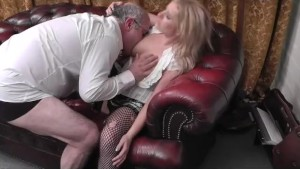 School Girl Kaz_B is sent to the head masters office for mis-behaving