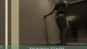 BEST Striptease dancing ever - Hot muscle girl lapdance at window