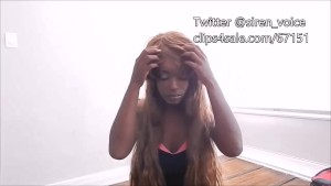 wig fetish long brown wig black dress thong SFW PREVIEW