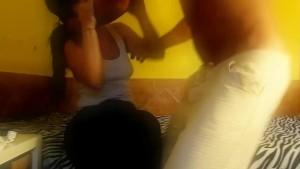 Diana cu de Melancia - takes slaps for bad behavior