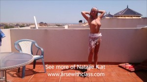 Removing my bikini in a photo shoot outdoor in the sun, I m NatalieK