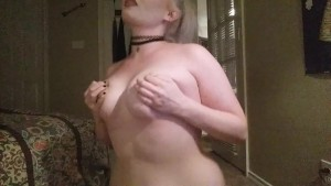 curvy amatuer blonde teases and bites her own nipples