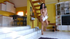 VickyLove home demo strip dance