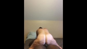 She rides this big black dick