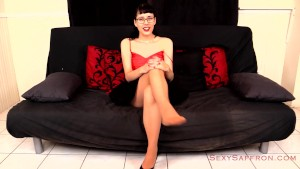 Secretary Strip Tease in Pantyhose for a Job Trailer