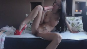 MiaMaxx luxury tatooed cover girl riding a cock, DP