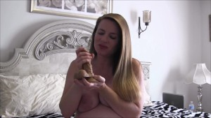 9 Month Pregnant StepMom Takes Care of StepSon (solo with toy)