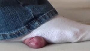 Cockcrush in white socks
