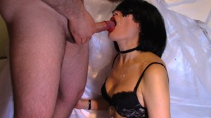 Slow-motion video cumshot in mouth