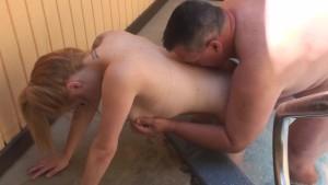 Daisy Hot Tub Doggy and Cum Shot