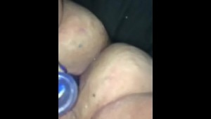 BBW Creaming on her First Toy