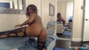 Busty Booty Nyla Storm Bounces Her Big Butt & 34 G s For Her Webcam Lovers