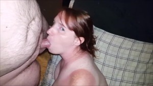 Sexy Cock sucking ends with him cumming on my tongue