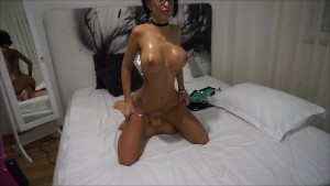 Anisyia Livejasmin oiled up fucking huge cock reverse cowgirl 4KHD