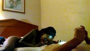 Ebony showing her skills