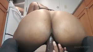 TRAILER: Riding My Thick Black Dildo