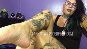 Tattooed Beautiful Feet on your Face!