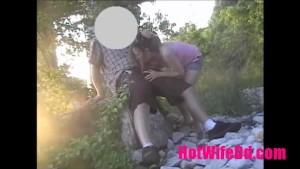 HotWifeDd-Blowjob-Wife Sucking A Guys Cock In A Public Park & Makes Him Cum