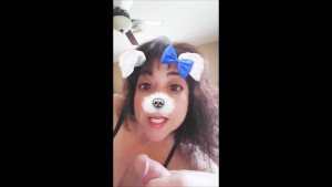 Snapchat Puppy plays with a Boner