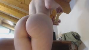 big ass, white leggins and oil