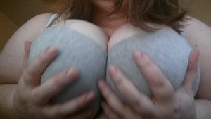 A quick bra tease with my 46G s