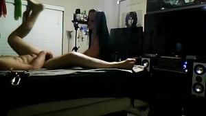 She fucked my ass with a machine and made me swallow my own cum!