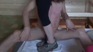 Brutal sneakers cockcrushing