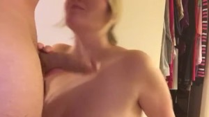 Big tit wife sucks big dick