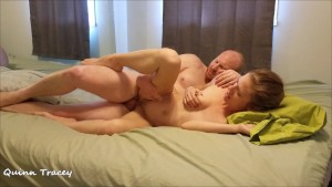 Adorkable Couple Enjoys Missionary, Doggy, Spooning, and Creampie