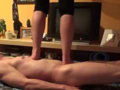 Sexy feet barefoot trampling