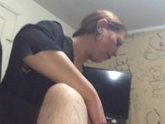 Horny tattooed wife nice blowjob & hard fuck