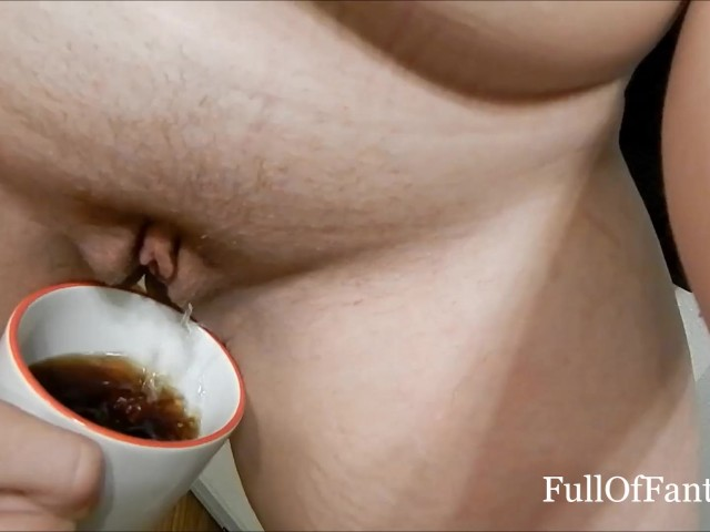 Pussy Juice Dripping In Milk Glass