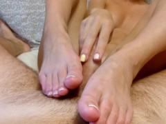 Picture French Pedicure Footjob Part 2, Touching Boo...